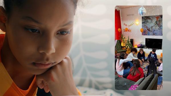 Mia (Arazay Zink Campis, l.) findet heraus, dass Zerda sie wegen ihres Geburtstages angelogen hat.   Rechte: ZDF/Studio Zentral