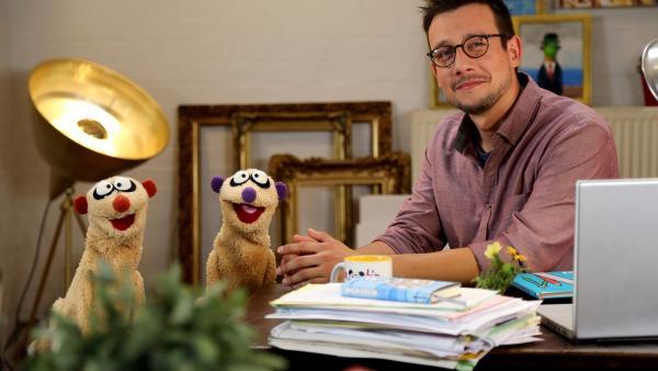 Jan & Henry besuchen einen Buchautor (Patrick Diemling). | Rechte: bigSmile/NDR