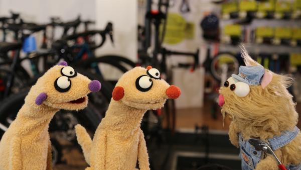 Jan & Henry treffen einen gestressten Mechaniker-Hamster. | Rechte: NDR/bigSmile