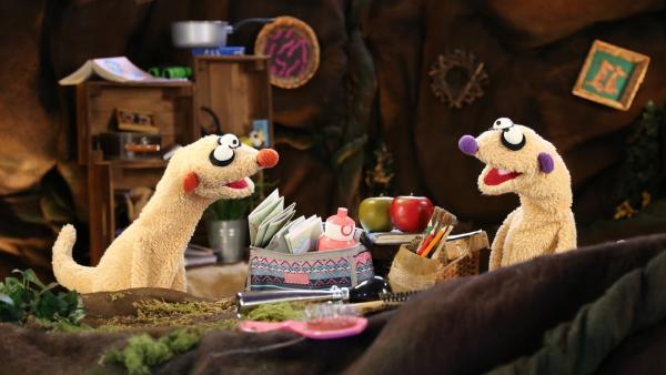 Jan & Henry planen ihre Fahrradtour. | Rechte: NDR/bigSmile
