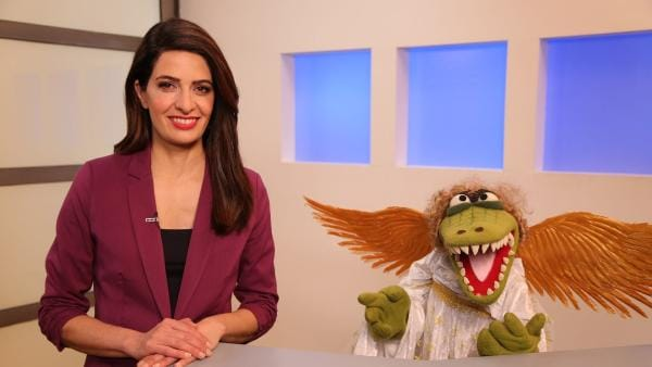 Folge 35: Linda Zervakis mit Engelchen Krokodella | Rechte: bigSmile