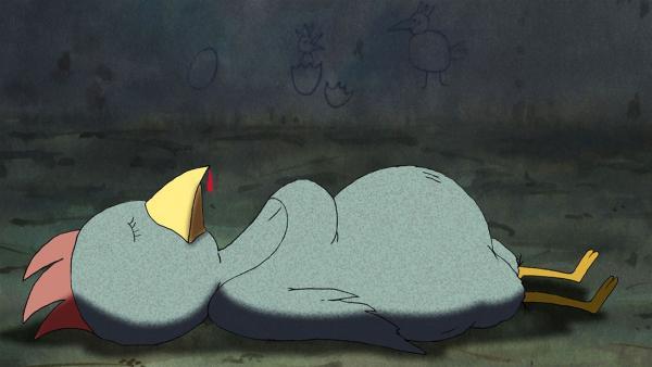 Mitten in der Nacht herrscht große Aufregung im Stall: Das Huhn Marilyn liegt bewusstlos am Boden. Johnny Mauser untersucht den Tatort und stößt auf ein wichtiges Indiz. | Rechte: WDR/MotionWorks GmbH