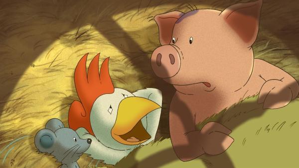 Franz von Hahn hat sich verliebt. Nicht etwa in ein Huhn, sondern in eine Froschfrau. | Rechte: WDR/MotionWorks GmbH