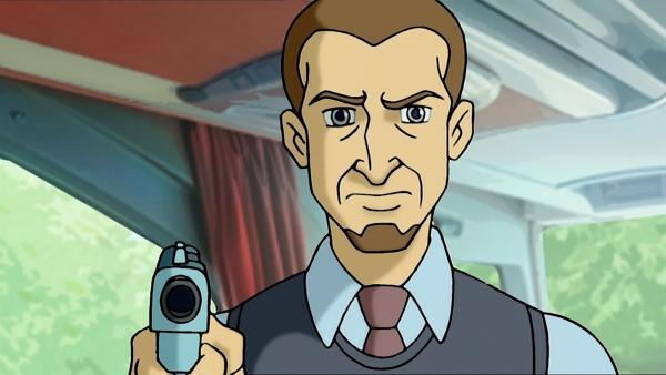 Ossinsky ist ein skrupelloser Verbrecher, der auch vor Waffengewalt nicht zurückschreckt. | Rechte: ZDF/Jürgen Polaszek
