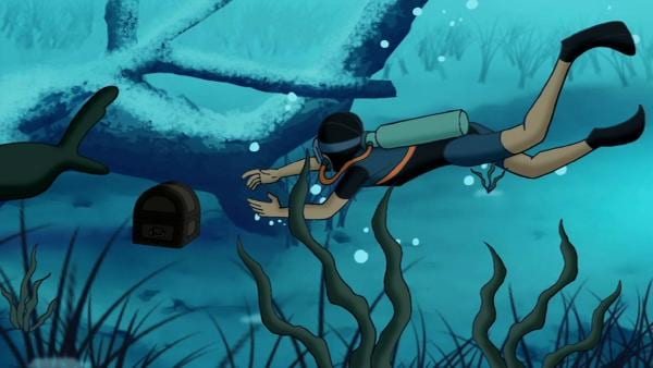 Tim hat ihn entdeckt - den sagenhaften Schatz aus dem Silbersee! | Rechte: ZDF/Jürgen Polaszek