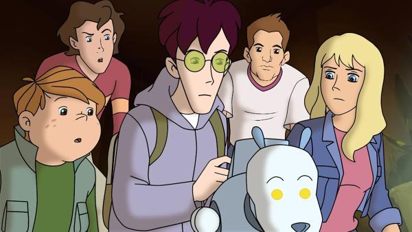 Klößchen, Tim, Karl, Jörg und Gabi entdecken ein computergesteuertes Haustier. Können sie es für ihre Zwecke umprogrammieren? | Rechte: ZDF/Jürgen Polaszek