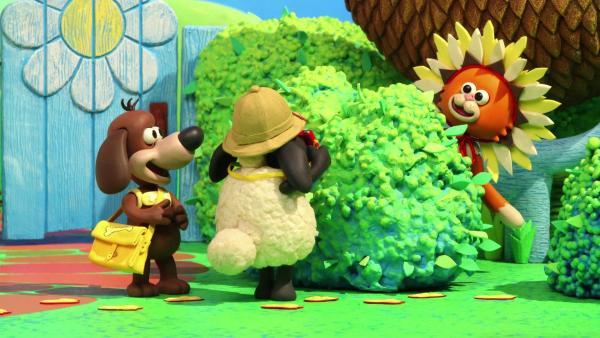 Timmy und Ruffy machen eine Dschungel-Safari durch die Spielgruppe. Sie sind auf der Jagd nach tollen Fotomotiven. Wie gut, dass sich die anderen als wilde Tiere verkleidet haben! | Rechte: WDR
