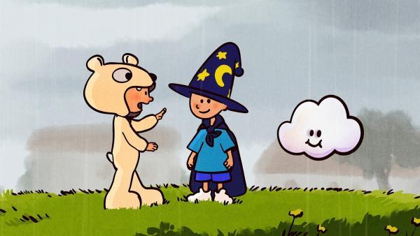 Ella, Oskar und Huu machen das Beste aus dem schlechten Wetter. | Rechte: SWR/NORMAAL