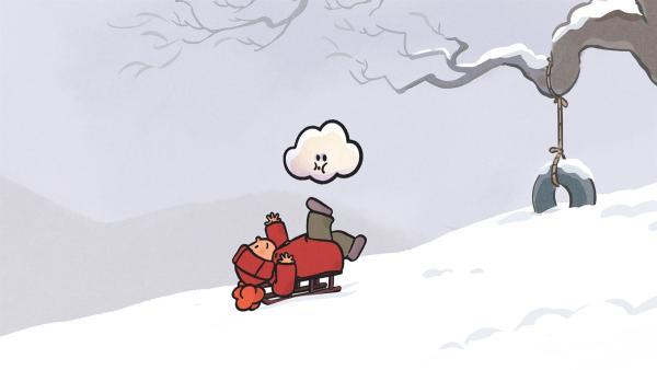 Oskar hat jede Menge Spaß dabei, im Schnee zu spielen. | Rechte: SWR/NORMAAL