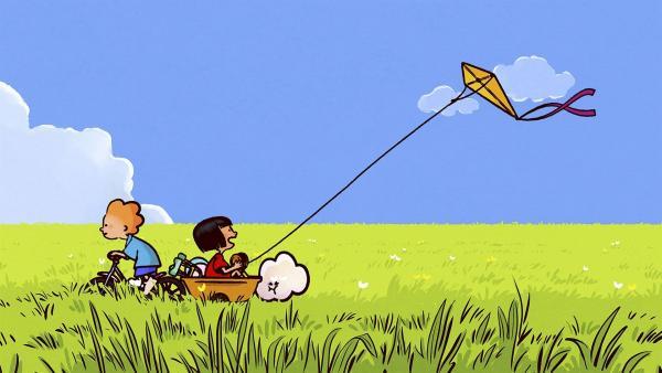 Ella, Oskar und Huu verbringen den Sommertag mit Drachensteigen. | Rechte: SWR/NORMAAL
