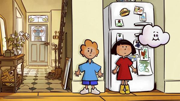 Niemand darf Ella und Oskar in der Wohnung sehen.   Rechte: SWR/NORMAAL