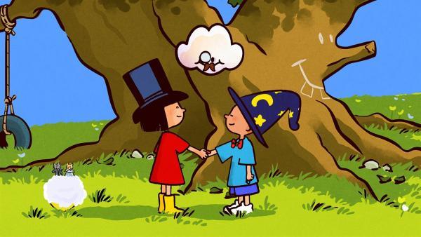 Ella und Oskar haben beschlossen zu heiraten. Huu traut die beiden. | Rechte: SWR/NORMAAL