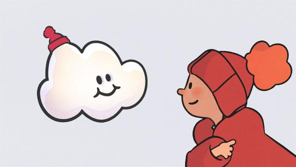 Oskar hat Huu eine Mütze besorgt, damit er im Schnee nicht friert. | Rechte: SWR/NORMAAL