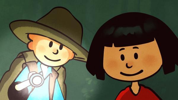 Oskar und Ella haben den Entdecker-Club gegründet. | Rechte: SWR/NORMAAL