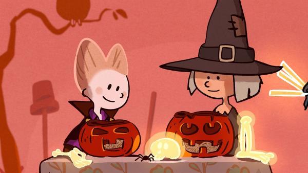 An Halloween müssen Ella und Oskar drei Prüfungen bestehen.   Rechte: SWR/NORMAAL