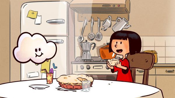 Ella schmeckt der selbstgebackene Möhrenkuchen. | Rechte: SWR/NORMAAL