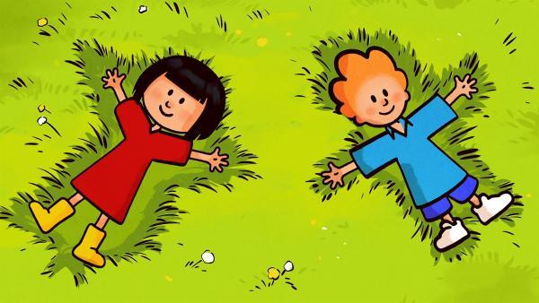 Ella und Oskar genießen den Frühlingsanfang. | Rechte: SWR/NORMAAL