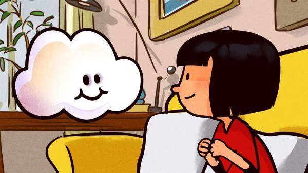 Huu und Ella genießen den Tag vor dem Fernseher.   Rechte: SWR/NORMAAL
