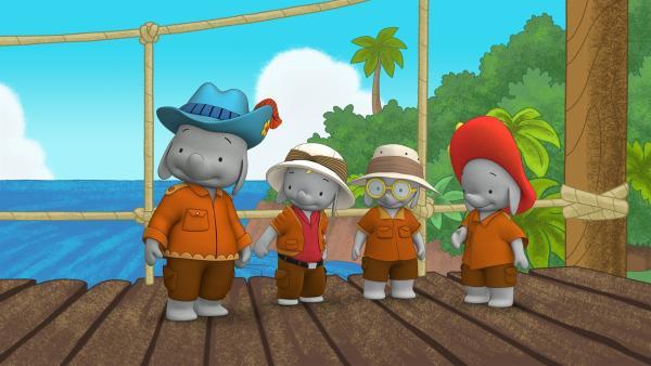 Belinda, Frankie, Tiki und Ella sind Rüssel-Ranger. | Rechte: KiKA/TVOKids/FremantleMedia Kids & Family Entertainment/DHX Cookie Jar Inc.