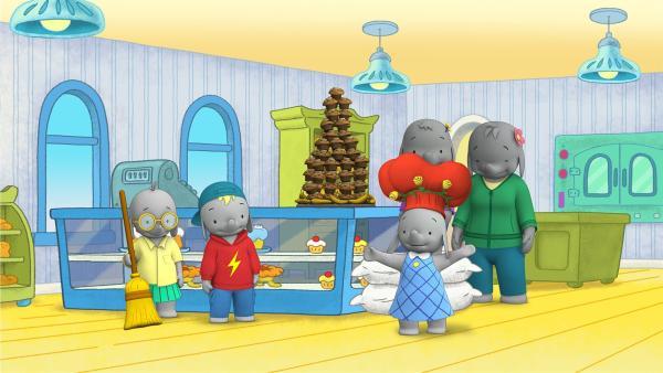 Dank Ellas Freunden wurden die Bananen-Muffins rechtzeitig fertig.  | Rechte: KiKA/TVOKids/FremantleMedia Kids & Family Entertainment/DHX Cookie Jar Inc.