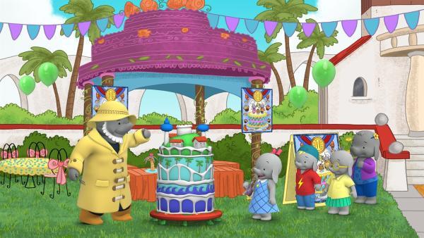 Käpt'n Kelp bewertet die Torte nach Aussehen und Geschmack. | Rechte: KiKA/TVOKids/FremantleMedia Kids & Family Entertainment/DHX Cookie Jar Inc.