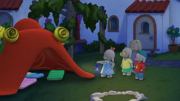 Ella hat mit ihrem Hut ein kuscheliges Zelt gezaubert.  | Rechte: KiKA/TVOKids/FremantleMedia Kids & Family Entertainment/DHX Cookie Jar Inc.