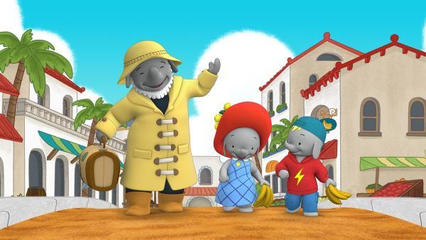 Käpt'n Kelp verreist. Ella und Frankie werden auf seinen Leuchtturm aufpassen.   Rechte: KiKA/TVOKids/FremantleMedia Kids & Family Entertainment/DHX Cookie Jar Inc.
