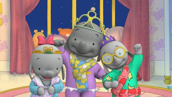 Ella, Belinda und Tiki machen eine Pyjama-Party-Modenschau.  | Rechte: KiKA/TVOKids/FremantleMedia Kids & Family Entertainment/DHX Cookie Jar Inc.