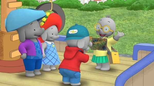 Tiki schlägt ihren Freunden einen Hindernislauf vor.  | Rechte: KiKA/TVOKids/FremantleMedia Kids & Family Entertainment/DHX Cookie Jar Inc.