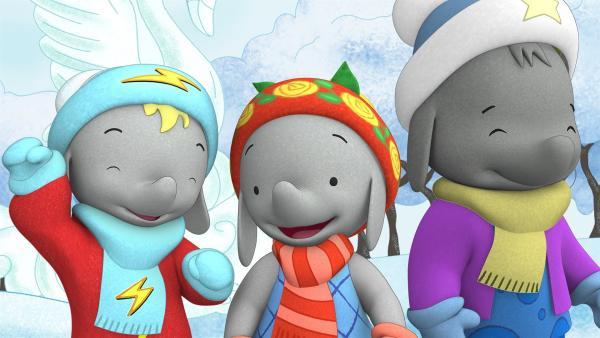 Die Freunde machen einen Ausflug zur Schnee-Insel.  | Rechte: KiKA/TVOKids/FremantleMedia Kids & Family Entertainment/DHX Cookie Jar Inc.