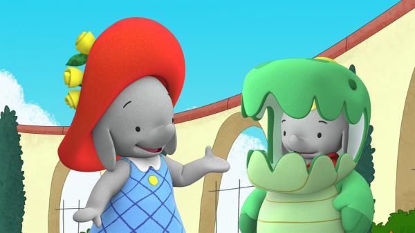 Ella und Frankie üben für ihren Auftritt.   | Rechte: KiKA/TVOKids/FremantleMedia Kids & Family Entertainment/DHX Cookie Jar Inc.