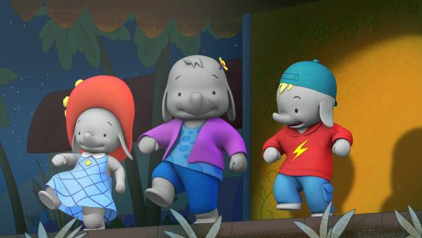 Am Abend treten die Freunde gemeinsam auf.  | Rechte: KiKA/TVOKids/FremantleMedia Kids & Family Entertainment/DHX Cookie Jar Inc.