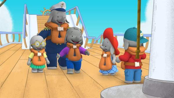 Ella, Belinda, Tiki und Frankie begleiten Ellas Papa auf seinem Schiff.  | Rechte: KiKA/TVOKids/FremantleMedia Kids & Family Entertainment/DHX Cookie Jar Inc.