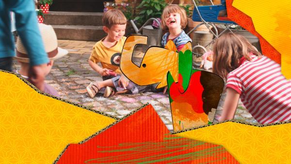 ENE MENE BU lädt junge Zuschauer ein, sich künstlerisch zu entfalten. Das interaktive TV-Format haucht Bildern und Basteleien Leben ein und präsentiert sie in einer liebevoll und aufwändig gestalteten Pop-up-Welt.<br/> | Rechte: KiKA
