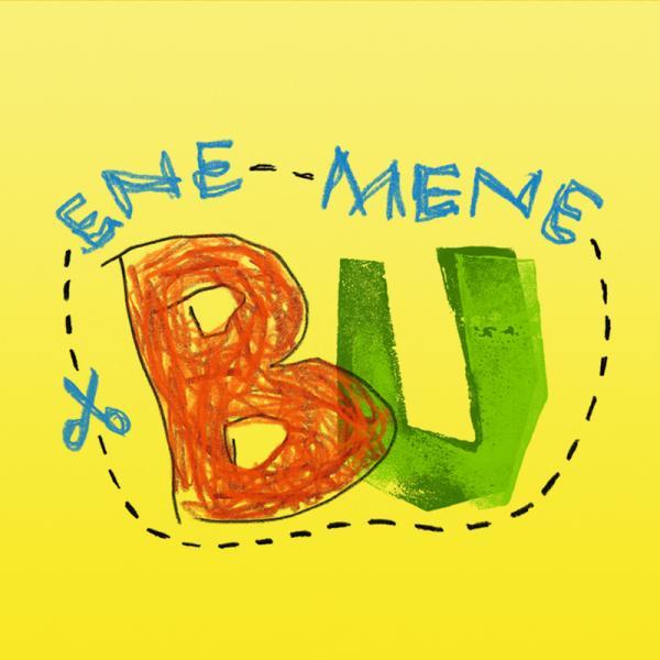 Die Steckfiguren feiern mit bunten Partyhüten und Luftschlangen den Geburtstag von ENE MENE BU.   Rechte: KiKA