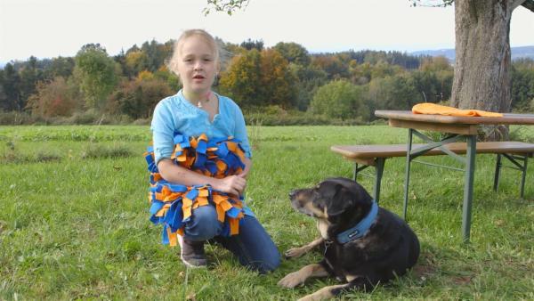 Ayleen mit ihrem Hund | Rechte: KiKA/Motion Works GmbH