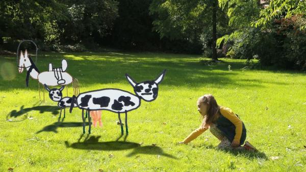 Charlotte und die Tiere vom Bauernhof. | Rechte: KiKA/Motion Works GmbH
