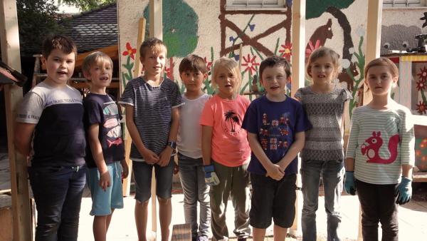 Die Kinder haben das Gerüst gebaut. | Rechte: KiKA/Motion Works GmbH
