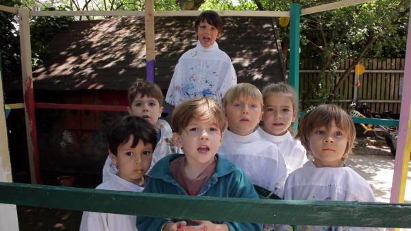 Die Kinder haben gestrichen. | Rechte: KiKA/Motion Works GmbH