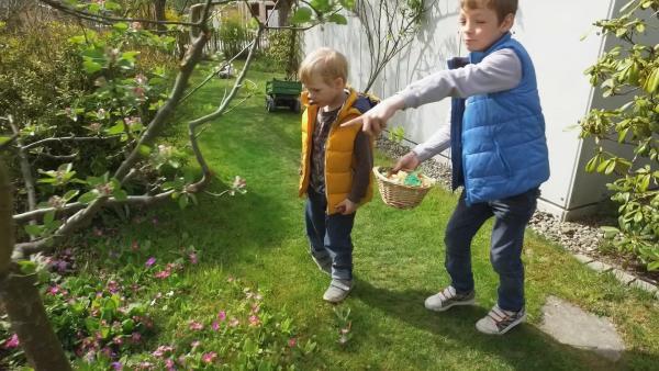 1591. Tomke, Quinn und Nelly feiern Ostern | Rechte: KiKA