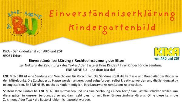 Einverständniserklärung Kindergartenbild   Rechte: KiKA