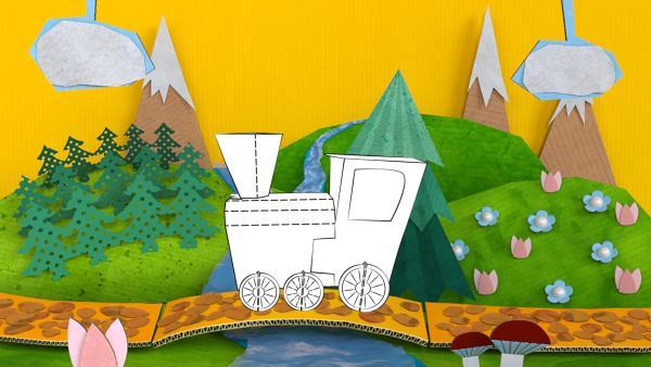 Stecklokomotive | Rechte: KiKA