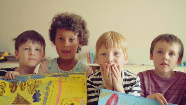 ENE MENE BU Malaufruf Kindergartenbild | Rechte: KiKA