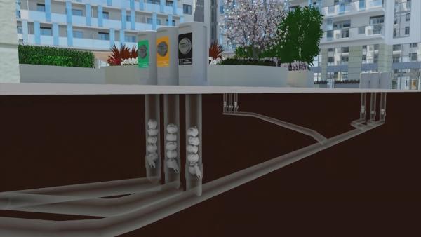 In Hammerby wird der Müll über ein unterirdisches Müllsystem entsorgt. | Rechte: KiKA