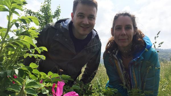 Felix mit der Biologin Alexandra Klein | Rechte: KiKA/Petra Bertram