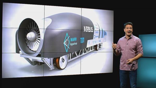 Mit dem Hyperloop soll es in Zukunft schneller gehen. Er soll bis zu 1000 km/h schnell werden. | Rechte: KiKA