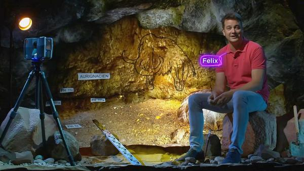 Felix auf den Spuren unserer Vorfahren: Archäologen entdecken und erforschen, was alles unter der Erde schlummert. | Rechte: KiKA