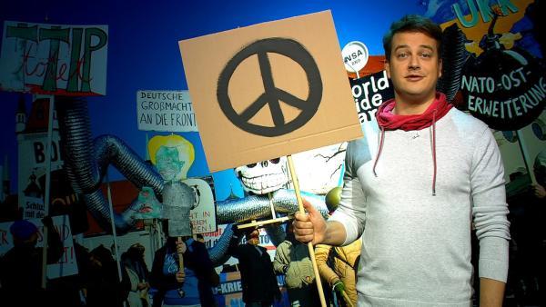 Wie wäre es in einer Welt ohne Krieg zu leben? Felix zeigt, wie das gelingen könnte. | Rechte: KiKA
