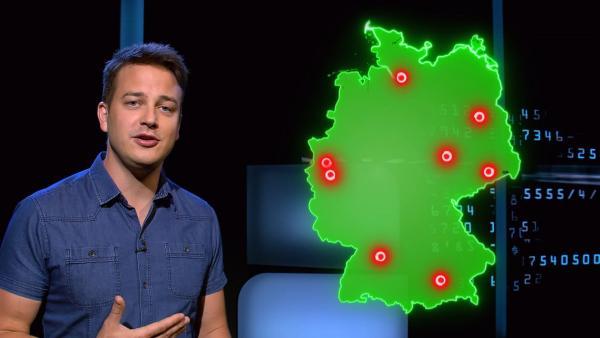 Die Deutschlandkarte zeigt: Besonders viel Feinstub ist an diesen Orten in der Atemluft. | Rechte: KiKA