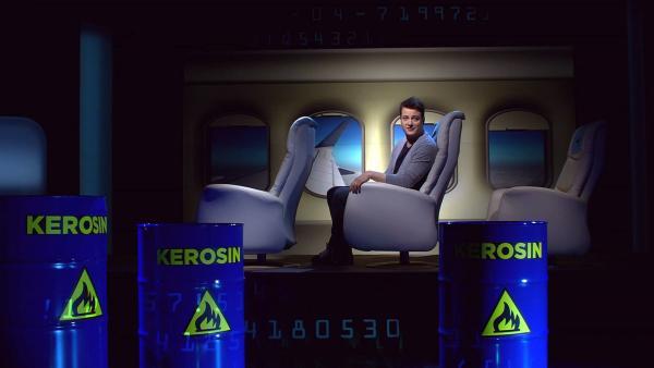 Felix auf der Suche nach umweltfreundlicheren Flugzeugen | Rechte: KiKA